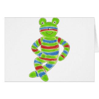 Sock Froggy Greeting Card