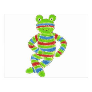 Sock Froggy Postcard