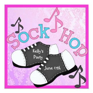 Sock Hop Party Invitations