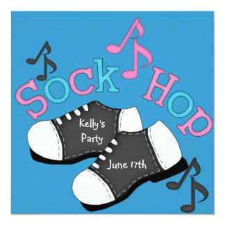Sock Hop THEME Party  Invitations