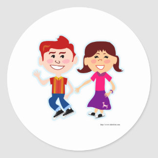 Sock Hop Too Classic Round Sticker