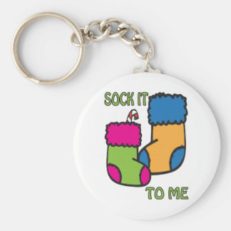 Sock It To Me Keychain