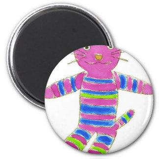 Sock Kitty 6 Cm Round Magnet