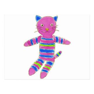 Sock Kitty Postcard