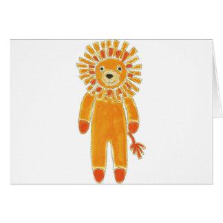Sock Lion Greeting Card