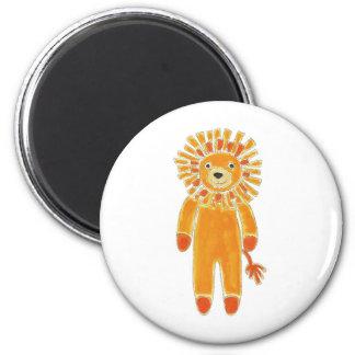 Sock Lion 6 Cm Round Magnet