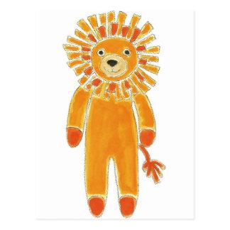 Sock Lion Postcard