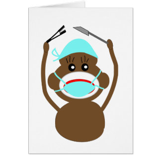 Sock Money General Surgery---Adorable Greeting Card