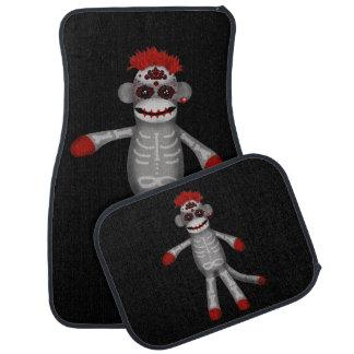 Sock monke Sugar Skull Day of the Dead Floor Mat