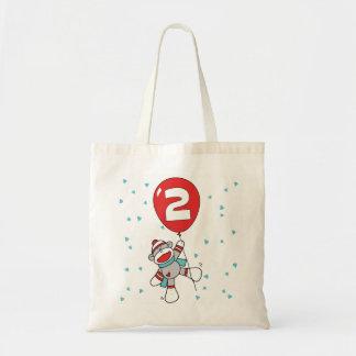 Sock Monkey 2nd Birthday Bags