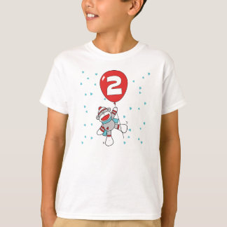 Sock Monkey 2nd Birthday T-Shirt