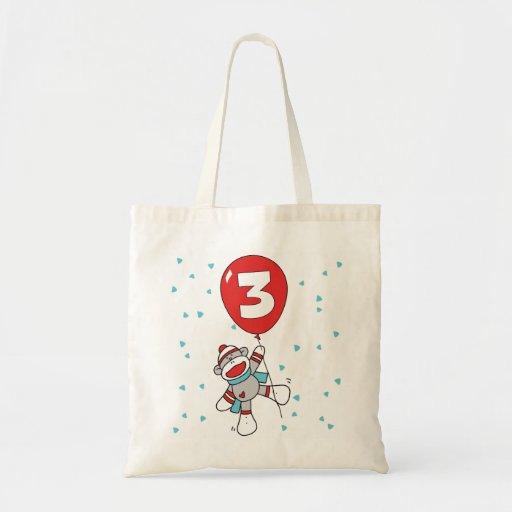 Sock Monkey 3rd Birthday Bag