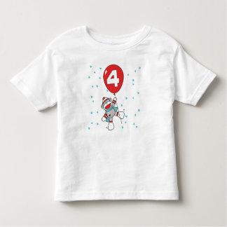 Sock Monkey 4th Birthday Tee Shirt