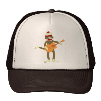 Sock Monkey Acoustic Guitar Cap