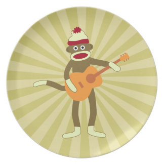 Sock Monkey Acoustic Guitar Plate