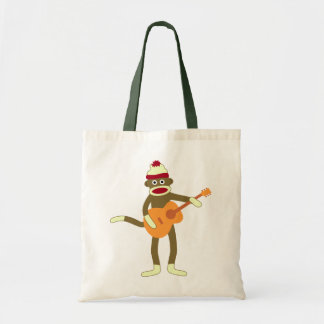 Sock Monkey Acoustic Guitar Tote Bag