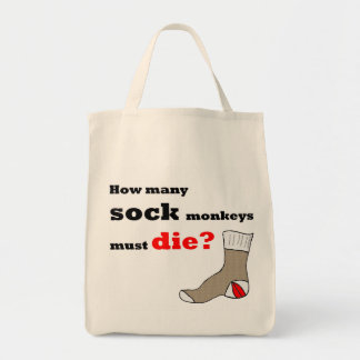 Sock Monkey Activist Tote Bag