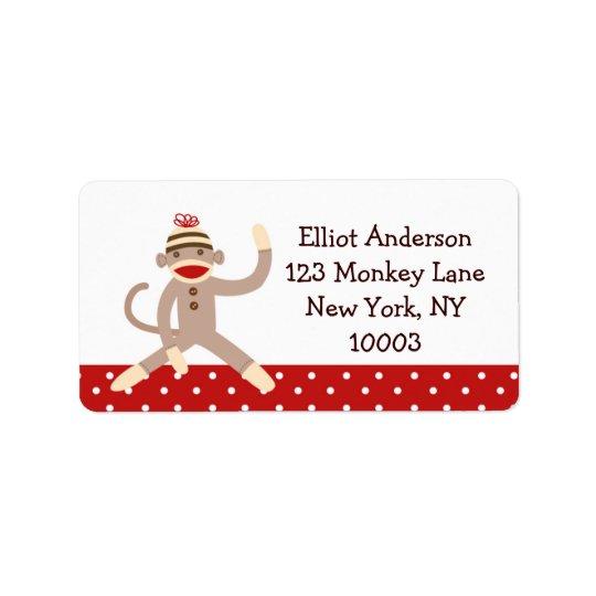 Sock Monkey Address Labels
