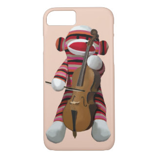 Sock Monkey and Cello 2 iPhone 8/7 Case