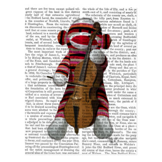 Sock Monkey and Cello Postcard