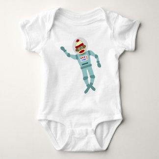 Sock Monkey Astronaut Baby Bodysuit