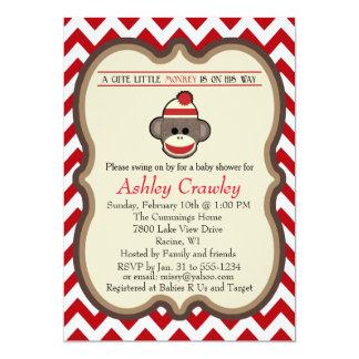 Sock Monkey Baby Shower invite - customize
