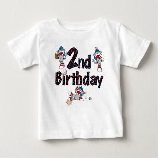 Sock Monkey Baseball Birthday Shirts