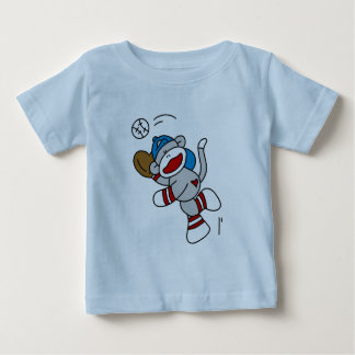 Sock Monkey Baseball Catching Ball Tshirts