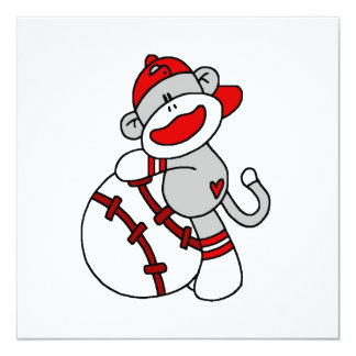 Sock Monkey Baseball T-shirts and Gifts Card