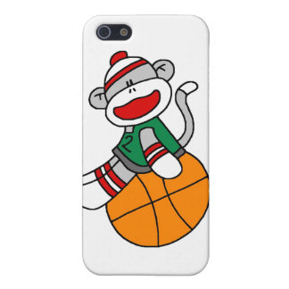 Sock Monkey Basketball and Gifts Cover For iPhone 5/5S