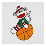 Sock Monkey Basketball T-shirts and Gifts Poster