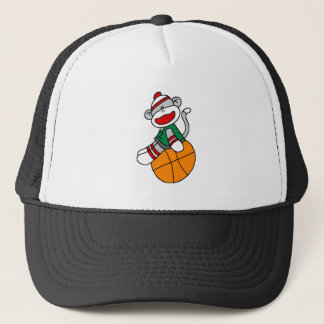 SOCK MONKEY BASKETBALL TRUCKER HAT