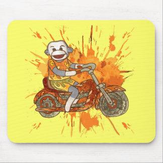 Sock Monkey Biker Mouse Pad