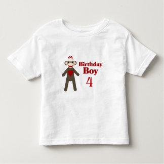 Sock Monkey Birthday Boy Tee Shirt