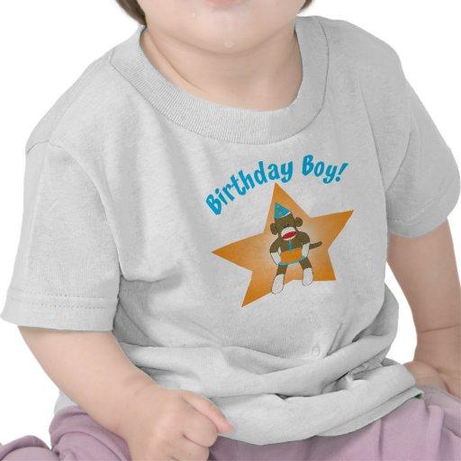 Sock Monkey Birthday Boy Shirt