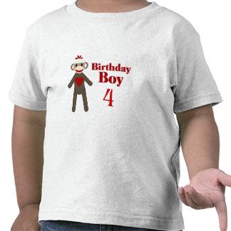 Sock Monkey Birthday Boy T Shirts