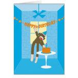 Sock Monkey Birthday Party Invitation Greeting Card