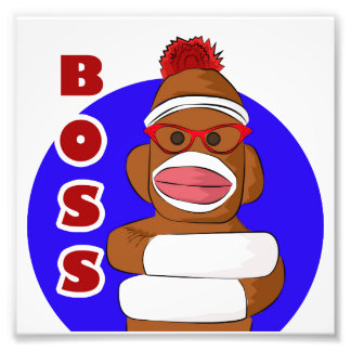 Sock Monkey Boss Photo