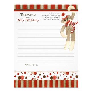 Sock Monkey Boy Baby Shower Blessings Custom Flyer