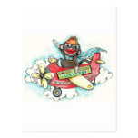 Sock Monkey Business Airlines Post Card