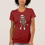 Sock Monkey by lil kolohe Jessica Ladies T-Shirt