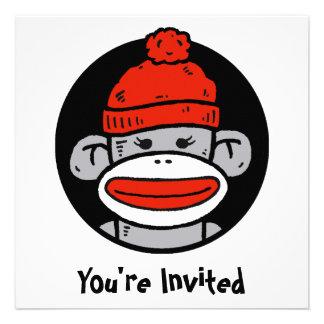 Sock Monkey Card Invitation