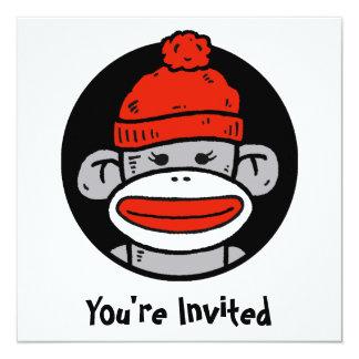 Sock Monkey Card / Invitation