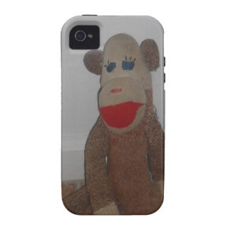 Sock Monkey Vibe iPhone 4 Cases