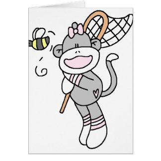 Sock Monkey Catching Bugs Cards
