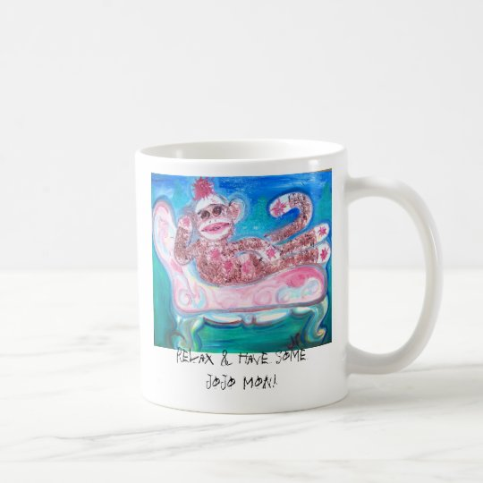 Sock Monkey Coffee Cup - JoJo Mon