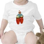 Sock Monkey Conga Drums Baby Bodysuits