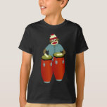 Sock Monkey Conga Drums T-Shirt