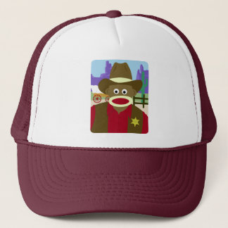 Sock Monkey Cowboy Trucker Hat