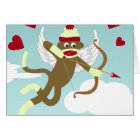 Sock Monkey Cupid Card